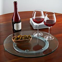 Glass Lazy Susan at Wine Enthusiast - $259.95