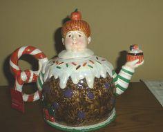 Dept 56 Sugar Plum Fairy Figural Christmas Teapot w Box Vintage Discontinued   eBay
