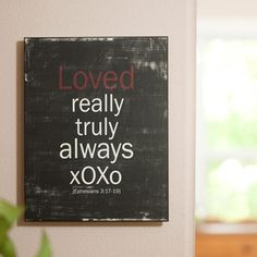 """Loved XOXO - 11"""" x 14"""" Wall Art Would match my bedroom perfectly!"""