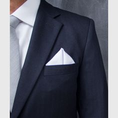 Classic White Pocket Square | Groom and Groomsmen | Evolution of Style