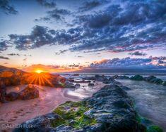 Sunset at Makena Beach in Maui, Hawaii.