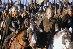 """""""The Lord of the Rings"""" horses have a majestic quality; the Riders of Rohan are the glorious saviors of Gondor, their speed accredited to their steeds"""