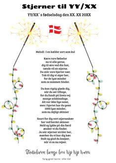 Fødselsdag - Festsange med mere Party Songs, Singing, Fester, Far, Inspiration, Gifts, Danish Language, Creative, Presents