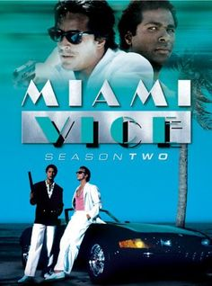 MIAMI VICE: Created by Anthony Yerkovich.  With Don Johnson, Philip Michael Thomas, Saundra Santiago, Olivia Brown. The adventures of the vice squad detectives of the Miami Police Department.