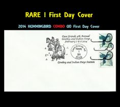 2014 RARE Hummingbird Stamp UO Combo First Day Cover by midiglass, $3.99