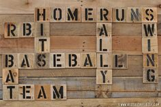 Baseball Enthusiast Pallet Art Word Collage Sports by ReUseItArt, $25.00