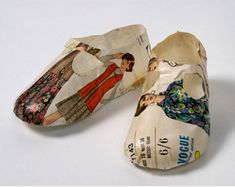 Paper shoes by Jennifer Collier