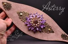 Asterry - flora style dog collar - by Marc Petite Dog Perfume, Perfume Testers, Designer Dog Collars, Handmade Dog Collars, Pet Boutique, Lavender Roses, Collar Designs, Brass Buckle, Big Flowers