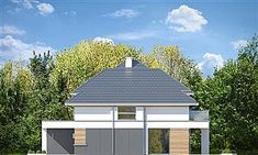 Elewacja prawa projektu Oszust 2 Morden House, Precast Concrete, Concrete Walls, Small House Plans, Building A House, Gazebo, Architecture Design, Shed, New Homes