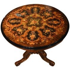 Quality Burr Walnut and Marquetry Inlaid Victorian Period Table | From a unique collection of antique and modern side tables at https://www.1stdibs.com/furniture/tables/side-tables/