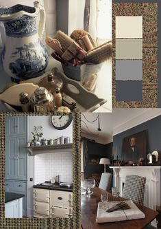 Fab texture, color and images:  The Paper Mulberry: Country Homes of England