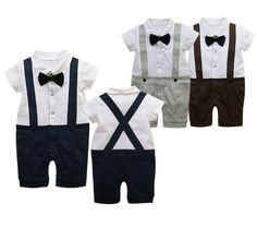 New Baby Boy Tuxedo Suit Romper Onesie Wedding Party Outfit - Baby Gift | eBay