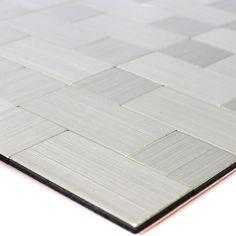 Details Zu Selbstklebende Metall Edelstahl Mosaik Fliesen Silber Mix | Bad  WC Bordüre