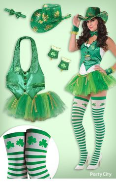 0f5427686 Get pinch proof with this sassy cowgirl St. Patrick s Day outfit! Start with  a
