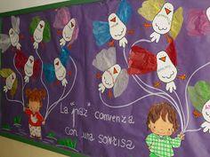 LA REVISTA DEL MIGUEL HERNÁNDEZ My Job, Art Activities, Classroom Decor, Bulletin Boards, Religion, Arts And Crafts, Lily, Peace, Education