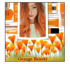 """""""Orange Beauty"""" by maria-notte on Polyvore featuring bellezza, Estée Lauder, Rimmel, Rodial, Clinique, Moroccanoil e Jin Soon"""