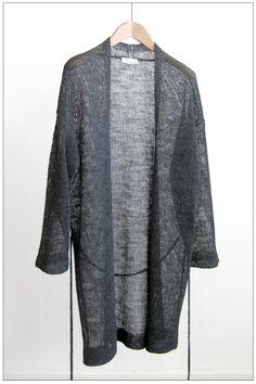 kaftan cardigan linen ash youasme spring summer 2012