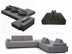 modelos de sofá dupla face