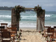 These fall wedding decorating ideas are surprisingly affordable, especially when you consider how beautiful they look and how easy they are to create. Wedding Rustic, Fall Wedding, Wedding Ceremony, Aisle Flowers, Wedding Flowers, Door Arbor, South Coast Nsw, Arbour, Rustic Doors