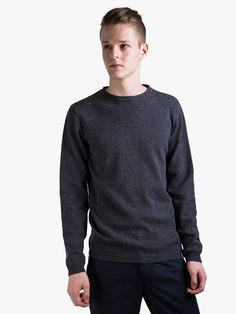 Norse Projects Strickpullover Sigfred Lambswool Grey Melange