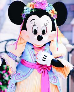 """Beautiful Minnie Mouse starring in """"Mickey's Royal Friendship Faire"""" at the Magic Kingdom."""