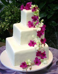 18 best Square Wedding Cake Ideas images on Pinterest | Pie wedding ...