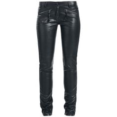 Black Faux Leather Skinny Pants by Queen Of Darkness @ EMP $105
