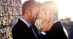 Chris and Rich can't legally marry in Australia, so their friends and family joined them in South Africa.