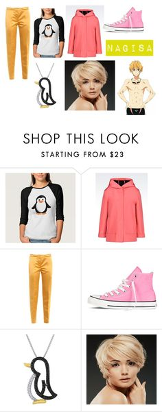 """""""Nagisa Huzamaki Closet Cosplay"""" by thecrystalheart on Polyvore featuring Emporio Armani, Rochas, Converse and WigYouUp"""