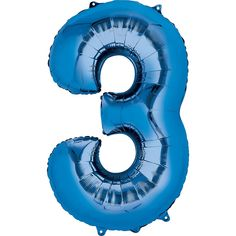 34in Blue Number 3 Balloon | Party City
