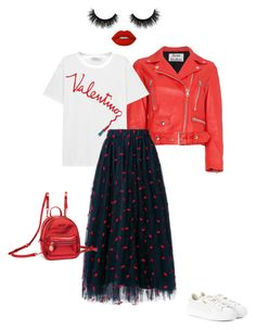 """evening 2"" by nezabydka on Polyvore featuring мода, Acne Studios, Valentino, Lime Crime, Artémes, Puma и Folli Follie"