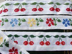 Cross-stitch fruit and veggie patterns
