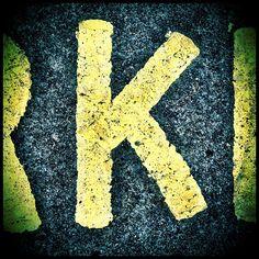 Graphic design typography letter art K