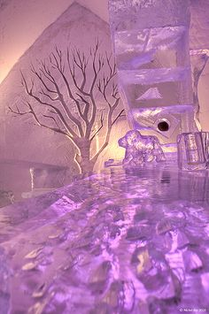 Ice hotel - so pretty!