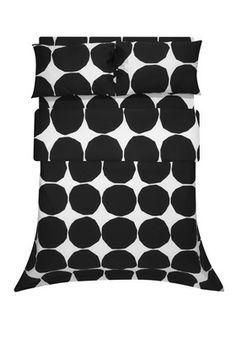 Kivet black Twin Duvet by Marimekko for son's room