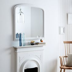 Buy John Lewis Croft Collection Overmantle Mirror, 94 x 90cm Online at johnlewis.com