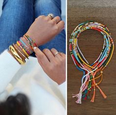 In summer every combination you can couple these bracelets, a great bunch of them will look cool especially if bracelets are in different colors.