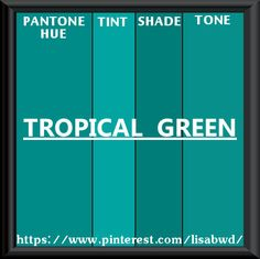 PANTONE SEASONAL COLOR SWATCH TROPICAL GREEN