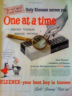 1949 kleenex tissue ad