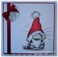 Penny Blacks 'Jolly Xmas Kitty' - CAS card - bjl