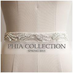 De mariée Sash ceinture de mariage Bridal Sash par PhiaCollection