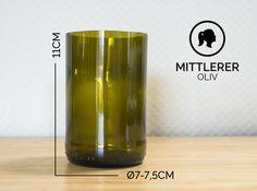 Gläser - MITTLERER / Ø 7-7,5CM / OLIVGRÜN (Glas / Becher) - ein Designerstück von Glaeserne_Transparenz bei DaWanda