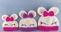 Vintage Driftwood: Ravelry: Olivia the Bunny Hat pattern by Carolina Guzman, inspirationRavelry: Olivia the Bunny Hat pattern by Carolina Guzman I need to pick up my crochet hook again and make this.Olivia the Bunny Hat - PDF Crochet Pattern - 7 size Crochet Animal Hats, Crochet Kids Hats, Easter Crochet, Crochet Beanie, Cute Crochet, Crochet Crafts, Crochet Projects, Knitted Hats, Knit Crochet