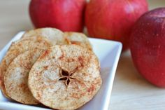 Oven dried Cinnamon apples.