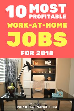 Are you looking for a work at home job? Here are some of the most profitable work at home jobs to give you a full time income. They are highly in demand if you're looking to earn money from home. Click through to learn how you can work from home! #workfromhome #wah #makemoneyfromhome #sidehustle #makemoneyonline #onlinebusiness