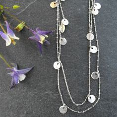 Hultquist Classic Silver Plated Coin Tie Long Lariat Necklace £28.  One of our top sellers.