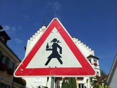 Die Tettnanger haben so ihre eigenen Schilder.