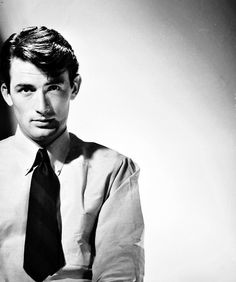 Gregory Peck. I can remember watch To Kill a Mockingbird in high school and thinking how handsome he was