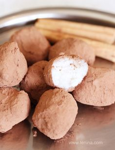 Cinnamon Dusted Coconut Truffles - Cooking with Tenina