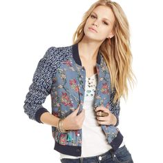 bomber jacket free-people-indigo-combo-printed-bomber-jacket-